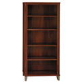 Bush Furniture 5 Shelf Bookcase - Hansen Cherry - Somerset Series