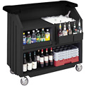 Cambro BAR540DS - Beverage Bar, Small Portable, Black Base