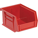 """Relius Solutions Hang And Stack Bins - 4-1/8 X5-3/8 X3"""" - Red - Pkg Qty 24"""