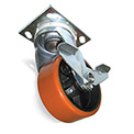Wheel Brakes for Fairbanks Casters - Polyolefin or Phenolic - 5""