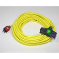 Pro Glo® D17223050 Triple Tap Extension Cord With 50 ft Cord, 12/3 Awg Sz, Yellow