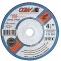 "CGW Abrasives 35610 Depressed Center Wheel 4"" x 1/4"" x 5/8"" Type 27 24 Grit Aluminum Oxide - Pkg Qty 25"
