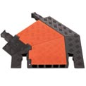 Guard Dog® 5 CH 45 Degree Left Turn -Orange Lid/Black Base