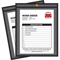 C-Line Products Shop Ticket Holders, Stitched, One Side Clear, 8 1/2 x 11, 25/BX