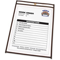 C-Line Products Shop Ticket Holders, Stitched, Both Sides Clear, 8 1/2 x 11, 25/BX