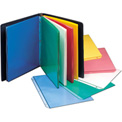 C-Line Products Colored Polypropylene Sheet Protector, Assorted Colors, 11 x 8 1/2, 50/BX
