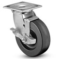 "Colson® 4 Series Swivel Plate Caster 4.08199.339 BRK7 - Phenolic Top Lock Brake 8"" Dia. 1250 Lb"