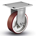 "Colson® 6 Series Rigid Plate Caster 6.05208.949.7 - Mold-On Polyurethane 5"" Dia. 1000 Lb."