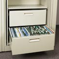 Rotary File Cabinet Components, Letter File/Storage Drawer, Bone White