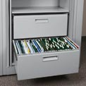 Rotary File Cabinet Components, Letter File/Storage Drawer, Light Gray