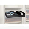 Rotary File Cabinet Components, Letter Multi Media Drawer, Black