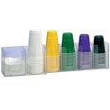 Dispense-Rite® Countertop Horiziontal 6 Section Lid Organizer
