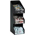 Dispense-Rite® Countertop Vertical 3 Section Lid/Condiment Organizer