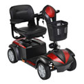 "Drive Medical Ventura 4-Wheel Power Mobility Scooter VENTURA418FS, 18"" Folding Seat, Black"