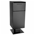 dVault Deposit Vault Mailbox and Parcel Drop with Pedestal DVCS0030 - Rear Access - Black