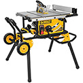 "DeWALT® DWE7499GD 10"" Jobsite Table Saw 32-1/2"" Rip Capacity w/ Rolling Stand, Guard Detect"