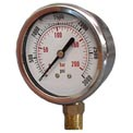 "Dynamic 2 1/2 "" Fluid Glycerine Filled Pressure Gage Stem 60 PSI"