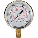 "Dynamic 2 1/2 "" Fluid Glycerine Filled Pressure Gage Stem 5000 PSI"