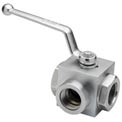 "Dynamic DE3L-12-NPT, High Pressure Ball Valve 1/2 "" NPT Thread 4500 PSI"