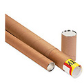 "Telescoping Tube, 42""L x 3"" Diameter x 0.125 Wall Thickness, Kraft, 24 Pack"