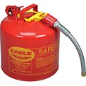 "Eagle Type II Safety Can with 7/8"" Spout - 5 Gallons - Red, U2-51-S"