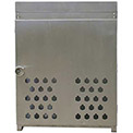 """12 Capacity, 20 Lbs. Cylinders, Aluminum Gas Cylinder Cage, 30""""W x 44""""D x 68""""H, Silver"""