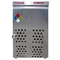 """18 Capacity, 20 Lbs. Cylinders, Aluminum Gas Cylinder Cage, 30""""W x 44""""D x 68""""H, Silver"""