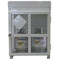 "4 Capacity, 20 lbs. Cylinders, Heavy Duty Steel Gas Cylinder Cage, 30""W x 30""D x 38""H, White"
