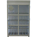 "12 Capacity, 33 Lbs. Cylinders, High Security Steel Gas Cylinder Cage, 44""W x 30""D x 68""H, White"