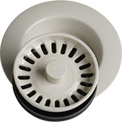 Elkay LKD35BQ, Bisque Disposal Flange w/Removable Basket Strainer For Kitchen Sink Disposer