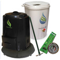 Enviro World EARTH Package - Rain Barrel, Compost Bin W/Base, Thermometer and Turner -EWC-202