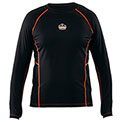 Ergodyne CORE Performance Work Wear™ 6435 Long Sleeve Shirt, Black, Medium