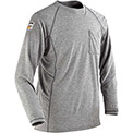 Ergodyne CORE Performance Work Wear® 7425 Mid Layer FR Crew Neck Long Sleeve Shirt, Gray, 2XL