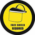 """Durastripe 30"""" Round Sign - Face Shield Protection Required"""