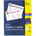 "Avery® UnRule Index Cards for Laser and Inkjet Printers 5388, 3"" x 5"", White, 50/Box"