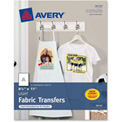 "Avery® Light T-Shirt Transfer, 8-1/2"" x 11"", Matte, White, 18 Sheets/Pack"