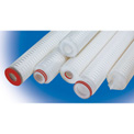 High Purity Pleated Poly Cartridge Filter 0.2 Micron - 2-3/4 Dia x 30H EPDM Seals, 222 w/Fin Ends - Pkg Qty 6