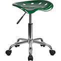 Flash Furniture Desk Stool - Backless - Plastic - Green