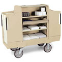 "Forbes ULTRA 2000 Housekeeping Cart with 10"" Wheels, Beige - 2000-10-BE"