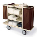 Forbes Steel Housekeeping Cart, Beige - 2104-BE