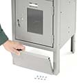 """Penco Front Base Plate For Lockers - 12X6"""" - Gray"""
