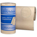GP Envision Brown High Capacity Perf. Paper Kitchen Roll Towel, 250 Towels/Roll, 12 Rolls/Case 28290