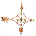 Good Directions Victorian Arrow Weathervane, Polished Copper