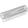 Compression Spring - 1.1 O.D. x 0.125 Wire Dia. - MBHD - Zinc - USA - Pkg of 2 - Gardner 509C
