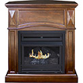 Pleasant Hearth Vent-Free Dual Fuel Gas Fireplace VFF-PH20D-C Cherry Compact