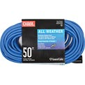 Carol 03661.63.07 50' All Weather Extension Cord, 14awg 15a/125v - Blue