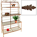 """French Bow Rack - No Tips 48""""W (Aged Iron)"""