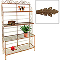 """French Bow Rack - No Tips 48""""W (Burnished Copper)"""