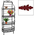 """French Bow Rack - No Tips 48""""W (Deep Red)"""