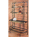 """French Bow Rack - With Brass Trim & Tips 48""""W (Aged Iron)"""